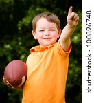 child with football celebrating ... | Shutterstock . vector #100896748