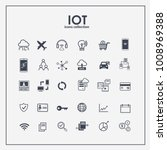internet of things icon set.... | Shutterstock .eps vector #1008969388