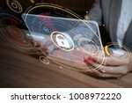 network security concept. | Shutterstock . vector #1008972220