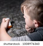 a small child curious about a... | Shutterstock . vector #1008976360
