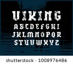 serif font in military style.... | Shutterstock .eps vector #1008976486