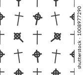 halloween seamless pattern.... | Shutterstock . vector #1008977290