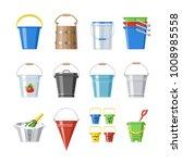 bucket vector bucketful or... | Shutterstock .eps vector #1008985558