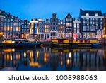 Amsterdam Canal Singel With...