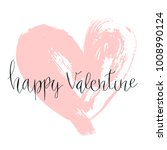 happy valentine hand written... | Shutterstock .eps vector #1008990124