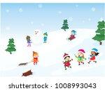 winter holidays illustration | Shutterstock .eps vector #1008993043