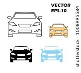 flat and thin line icons for... | Shutterstock .eps vector #1008995584