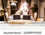 desk of free space and home...   Shutterstock . vector #1008995650