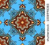 seamless pattern ethnic style.... | Shutterstock .eps vector #1008998383