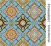 seamless pattern ethnic style.... | Shutterstock .eps vector #1008998416