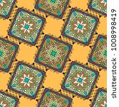 seamless pattern ethnic style.... | Shutterstock .eps vector #1008998419