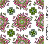 seamless pattern ethnic style.... | Shutterstock .eps vector #1008998440