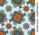 seamless pattern ethnic style.... | Shutterstock .eps vector #1008998443
