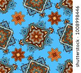 seamless pattern ethnic style.... | Shutterstock .eps vector #1008998446