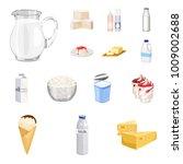 milk product cartoon icons in...   Shutterstock .eps vector #1009002688