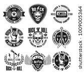 rock n roll music set of... | Shutterstock .eps vector #1009005364