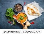 traditional indian lentils dal  ...   Shutterstock . vector #1009006774