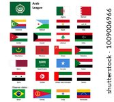 flags of the arab league and... | Shutterstock .eps vector #1009006966