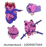 evil valentine's day. bleeding  ... | Shutterstock .eps vector #1009007044