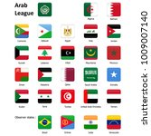 flags of the arab league and... | Shutterstock .eps vector #1009007140