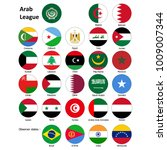 flags of the arab league and... | Shutterstock .eps vector #1009007344
