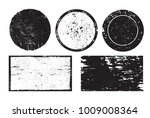 grunge post stamps.vector... | Shutterstock .eps vector #1009008364