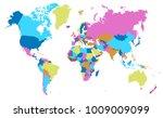 color world map vector | Shutterstock .eps vector #1009009099