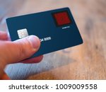 credit card with a built in...   Shutterstock . vector #1009009558