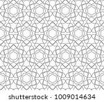 seamless ornamental vector... | Shutterstock .eps vector #1009014634
