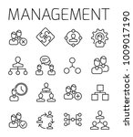 management related vector icon... | Shutterstock .eps vector #1009017190