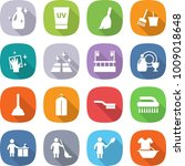 flat vector icon set   cleanser ... | Shutterstock .eps vector #1009018648