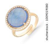 gold ring on white background. | Shutterstock . vector #1009019080