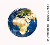 planet earth on white... | Shutterstock . vector #1009027564