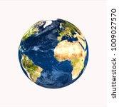 planet earth on white... | Shutterstock . vector #1009027570