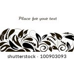 floral background with...   Shutterstock .eps vector #100903093