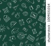 school seamless pattern with... | Shutterstock . vector #1009031014