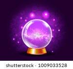 shining crystal or plasma ball... | Shutterstock . vector #1009033528