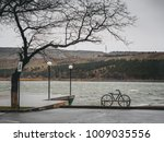 scenic view of bicycle on river ... | Shutterstock . vector #1009035556