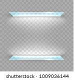 glass shelves for goods.... | Shutterstock .eps vector #1009036144
