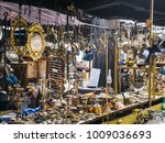 close up view of arranged old... | Shutterstock . vector #1009036693