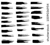 grunge ink brush strokes set.... | Shutterstock .eps vector #1009036954