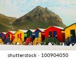beach huts at muizenberg near... | Shutterstock . vector #100904050