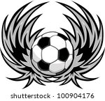 Graphic Soccer Ball Image...