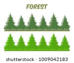 isolated pine tree forest flat...   Shutterstock .eps vector #1009042183