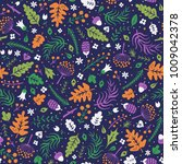floral surface pattern design.... | Shutterstock .eps vector #1009042378