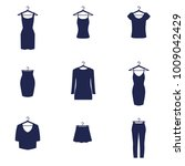set of clothing icons in vector.... | Shutterstock .eps vector #1009042429