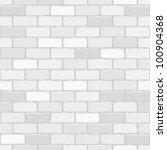 seamless vector white brick... | Shutterstock .eps vector #100904368