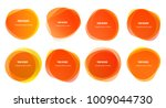 abstract blur shapes orange... | Shutterstock .eps vector #1009044730