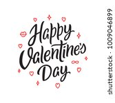 happy valentines day hand drawn ... | Shutterstock .eps vector #1009046899