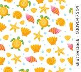 childish nautical seamless...   Shutterstock .eps vector #1009047514